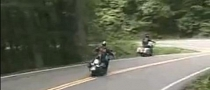 Harley Rider Won't Lean and Crashes in the Woods [Video]