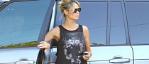Heidi Klum Spotted in New Range Rover