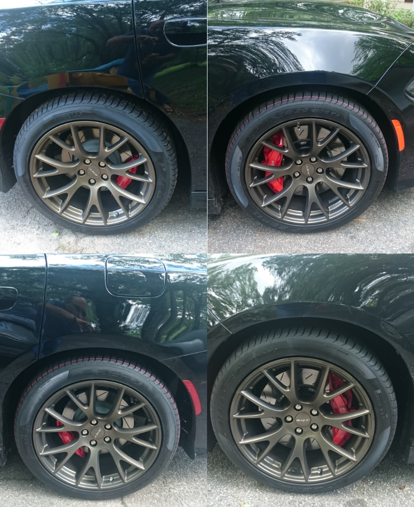 Hellcat Owner Receives Inadequately Colored Brass Monkey Slingshot Wheels