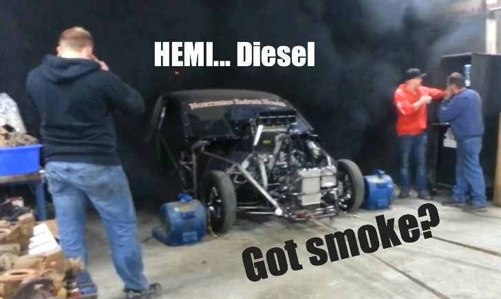 HEMI Supercharged V8 Converted to Run on Diesel: Oil ...