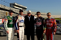 Rick Hendrick and his 4 drivers, Dale Earnhardt Jr, Jimmie Johnson, Jeff Gordon and Mark Martin