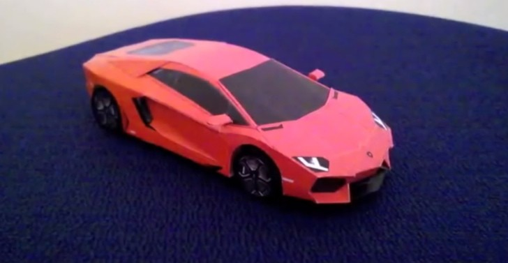 Here Are Some Really Detailed Aventador Paper Craft Build
