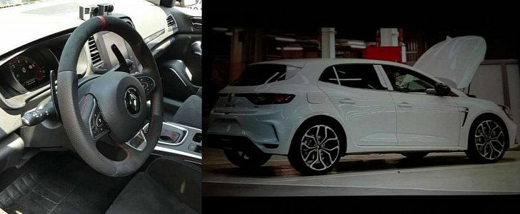 here are some leaked pics of the 2018 renault megane rs interior included autoevolution. Black Bedroom Furniture Sets. Home Design Ideas