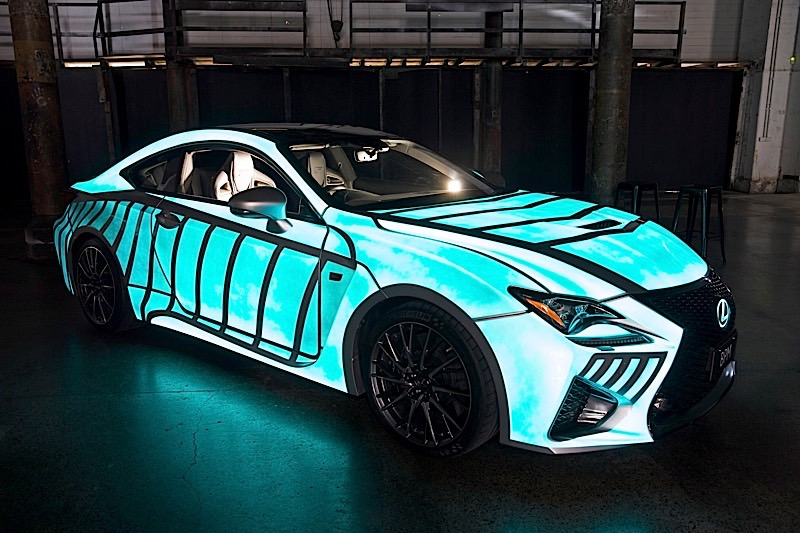 Here S How Lexus Made A One Of Kind Rc F Reflect The Driver Heart Beat