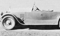 Davis' Pierce Arrow roadster