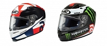 HJC Surfaces Lorenzo and Spies Replica Helmets