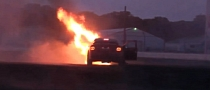 Holden HSV Turns into Fireball While Doing Donuts [Video]