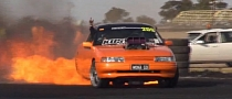 Holden Ute Goes Up in Flames During Insane Burnout [Video]