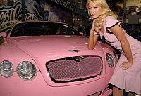 Paris Hilton's pink Bentley is famous all over the world