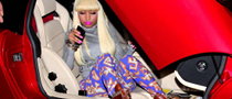 Holy Cow! Nicki Minaj Steps Out of a Bright Red Lambo