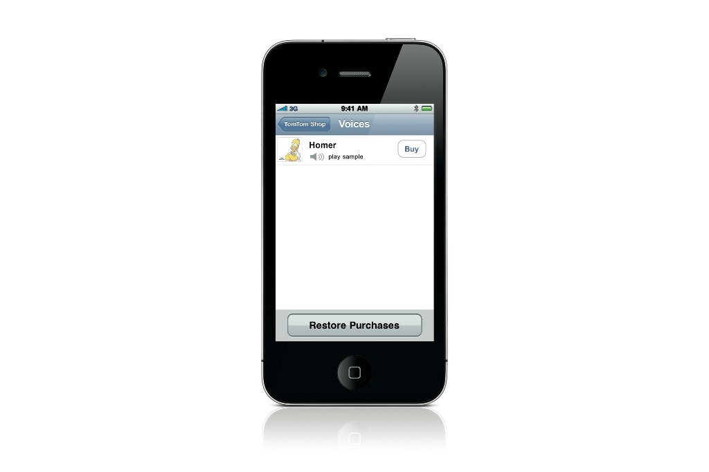 Homer Simpson Voice Now Available on TomTom iPhone App - autoevolution