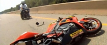 Honda CBR1000RR Rolling Burnout Fail [Video]
