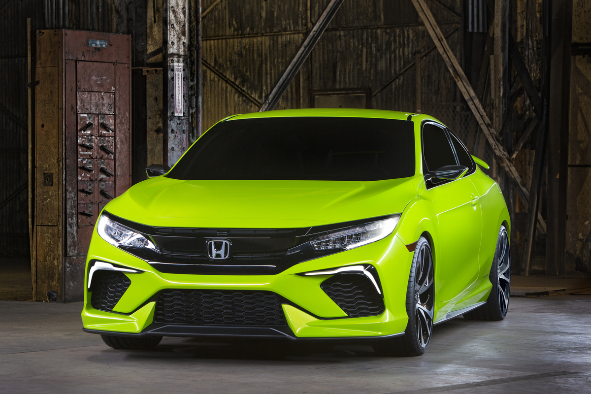 Honda Civic Concept Is New York S Colored Spot Previews The New
