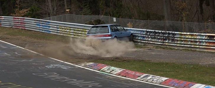 Honda Civic Ridiculous Nurburgring Crash Is a Driving Lesson
