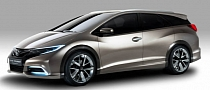 Honda Civic Wagon Concept First Photos Ahead of Geneva