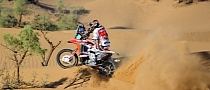 Honda CRF450 Rally Starts Winning in Morocco