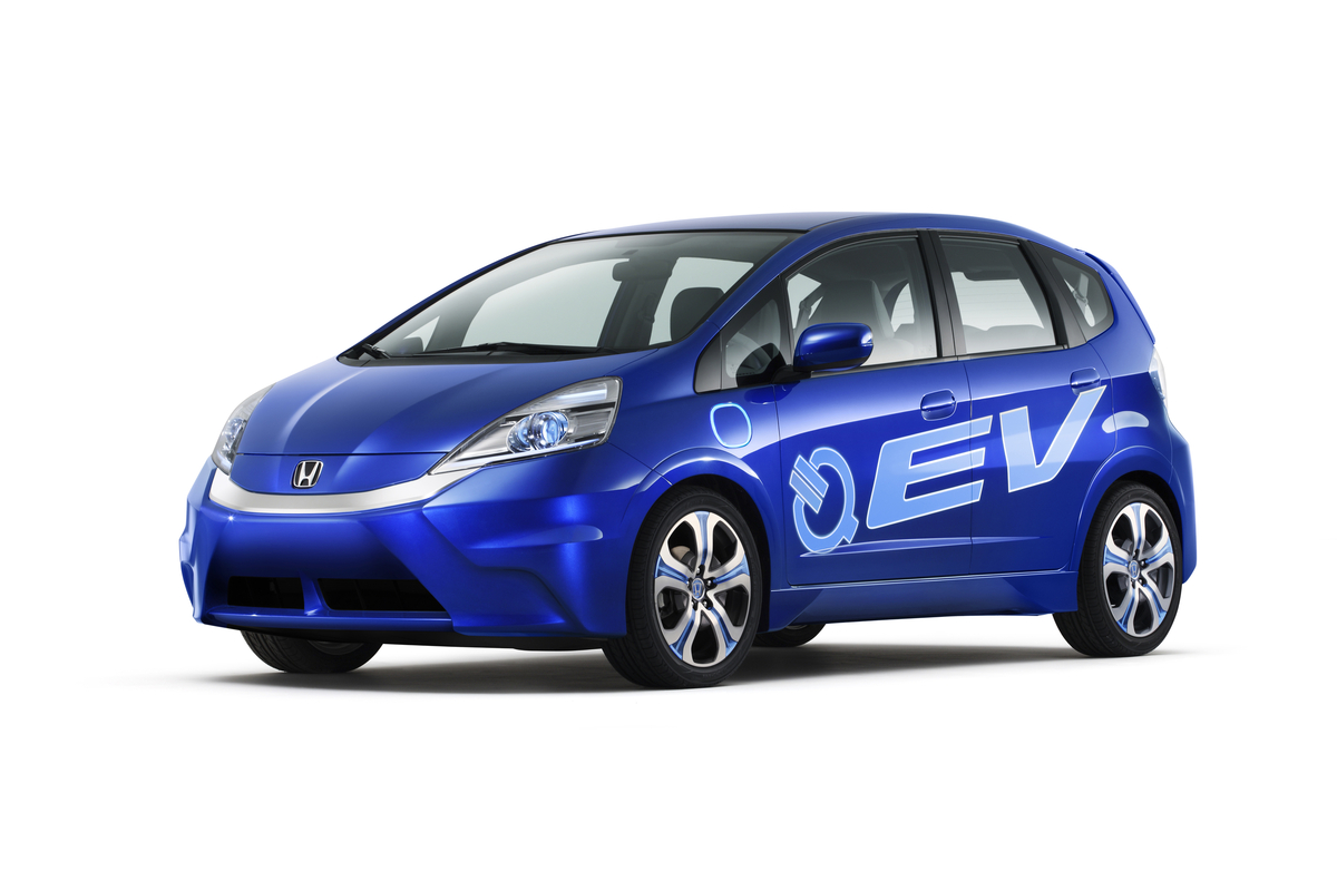 Honda fit ev concept unveiled at the 2010 la auto show for Honda fit electric