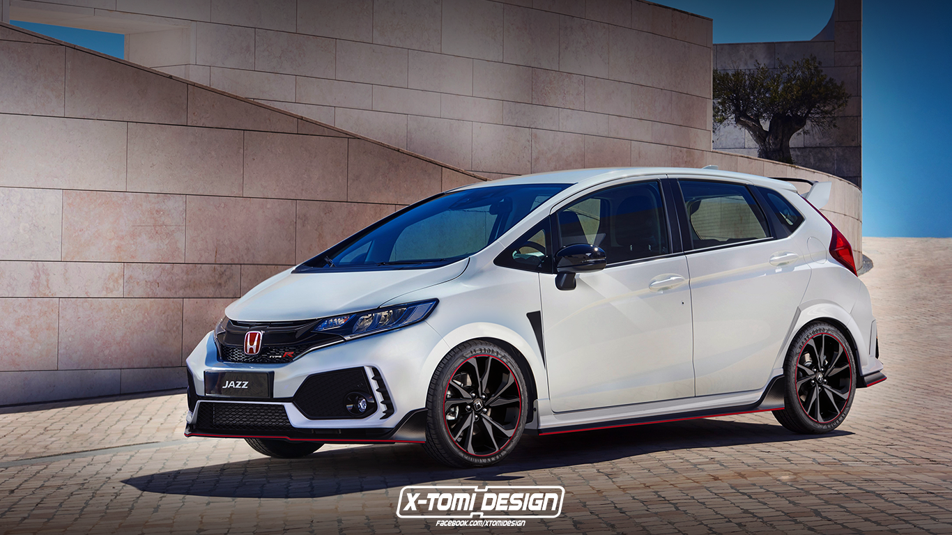 honda jazz fit type r rendering is begging for a civic si