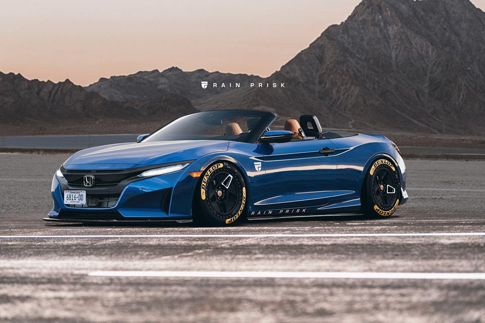 Honda S2000 Reimagined With 2019 Civic Styling - autoevolution