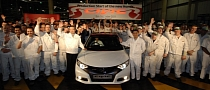 Honda UK Announces Start of 2012 Civic Production