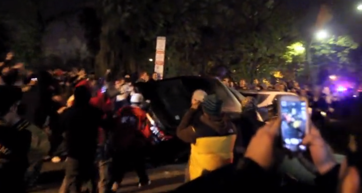 Hooligans Flipping a Toyota Camry After Red Sox World Series Win [Video]