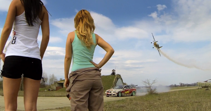 Hot Girls, an M3 and an Airplane for Epic Game of Tic Tac Toe [Video]