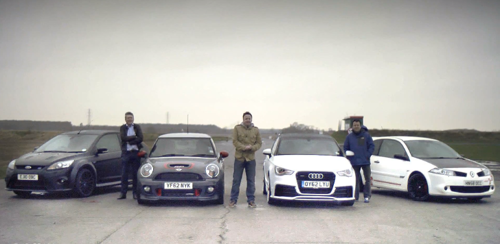 Hot Hatch Showdown: MINI vs Audi vs Ford vs Renault [Video]