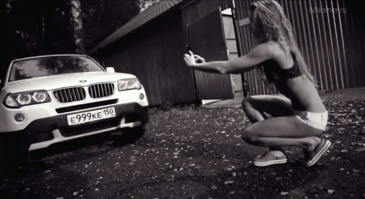 Hot Russian Girl Shows You How to Avoid Speed Cameras with a BMW X3 [Video]