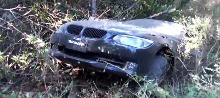 How a BMW 335i Looks after Jumping Off a Cliff [Video]