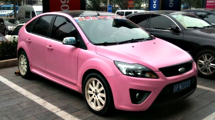 How About A Matte Pink Ford Focus Autoevolution