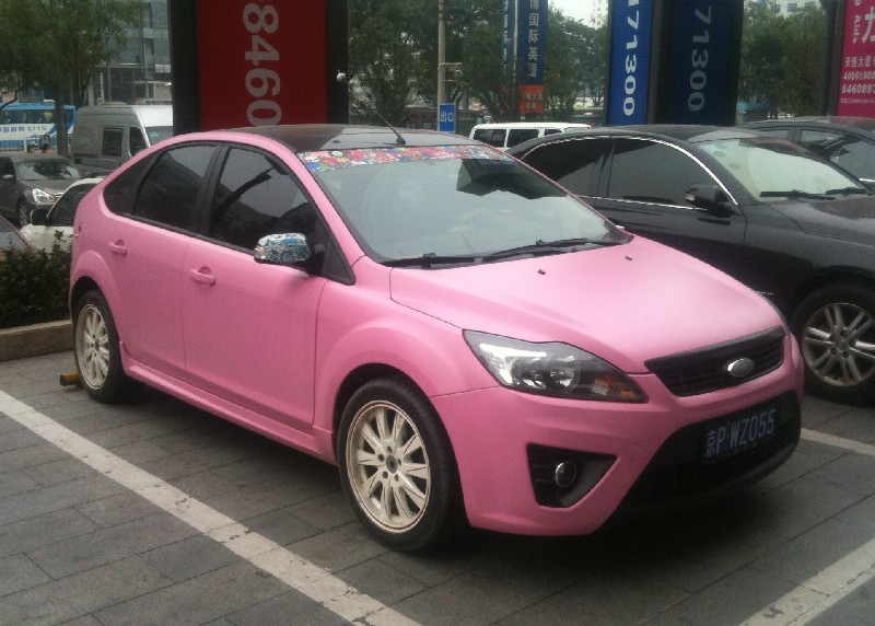 New Ford Focus >> How About a Matte Pink Ford Focus? - autoevolution