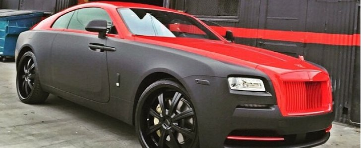how do you like the new look of chris brown u0026 39 s rolls-royce wraith