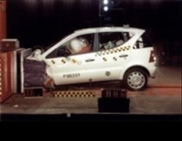 1999 Mercedes A-Klasse frontal impact in EuroNCAP tests