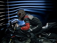 Helmets are tested for noise levels in wind tunnels