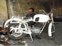 Old motorcycles can be restored to their old glory
