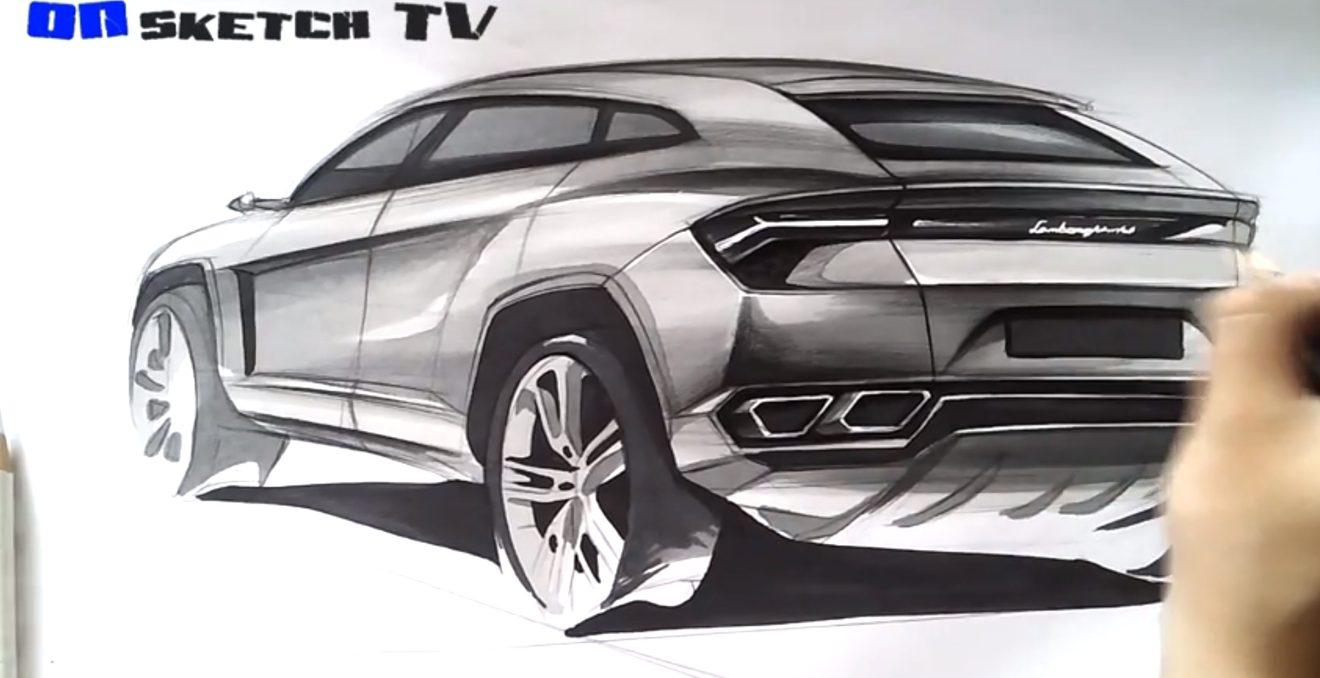 How To Draw The Lamborghini Urus Suv Autoevolution
