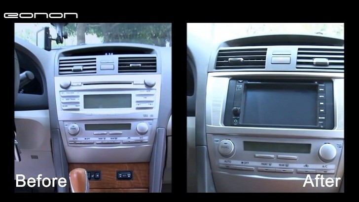 how to install eonon general dvd gps on toyota camry autoevolution. Black Bedroom Furniture Sets. Home Design Ideas