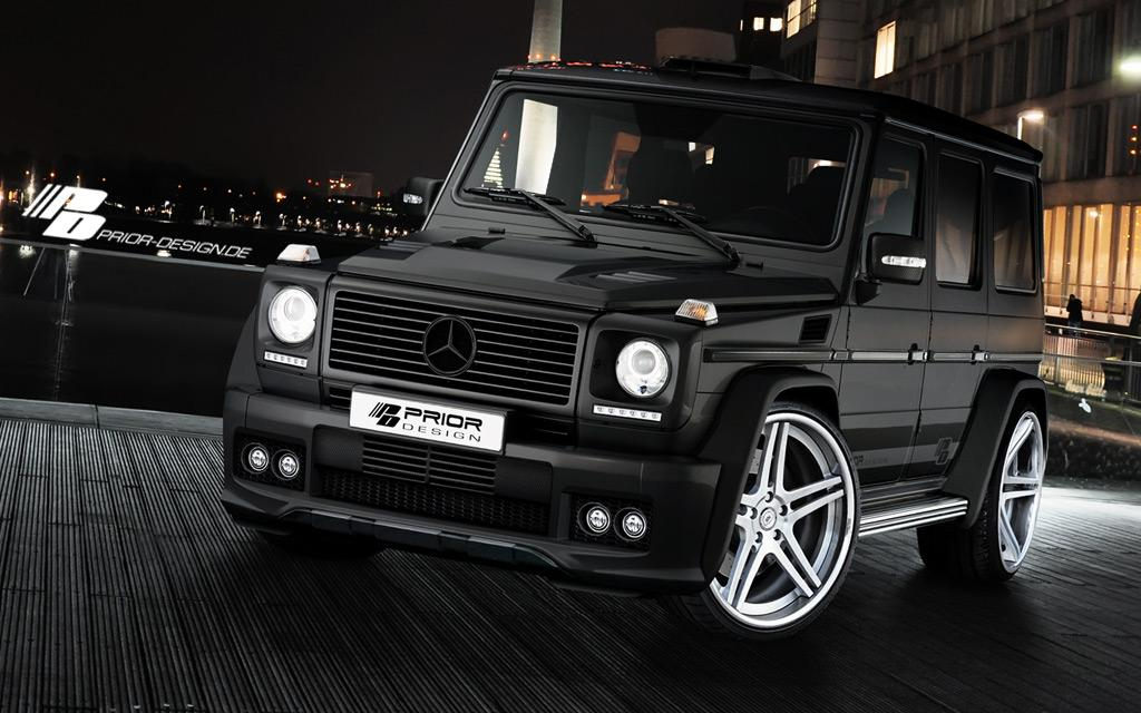 How to make a mercedes g class useless by prior design for Black mercedes benz g class