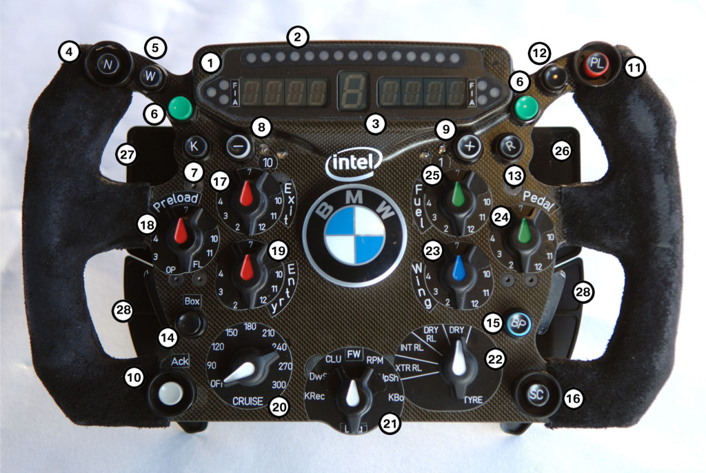 Steering Wheel Controls Race Car
