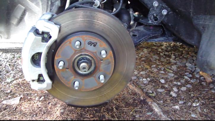 Replacing Toyota Corolla Rear Brake P You