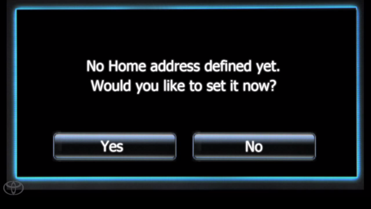 How to: Setup Home Address on Your Toyota Entune System [Video]