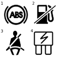 5 Warning Lights See also F1 Formula 1 Coloring Pages moreover Citroen Bx Body Electrical System Service And Troubleshooting also UNPh32 6 further Toyota Camry 2000 Toyota Camry Tail Lights Inop. on car warning lights