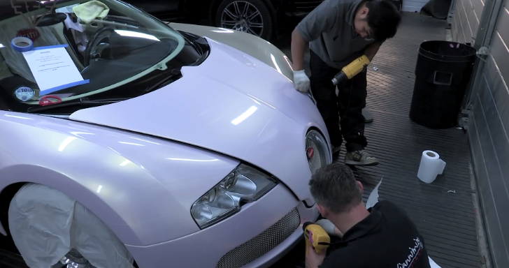 How to Wrap a Veyron in Pinkish Pearl White [Video]