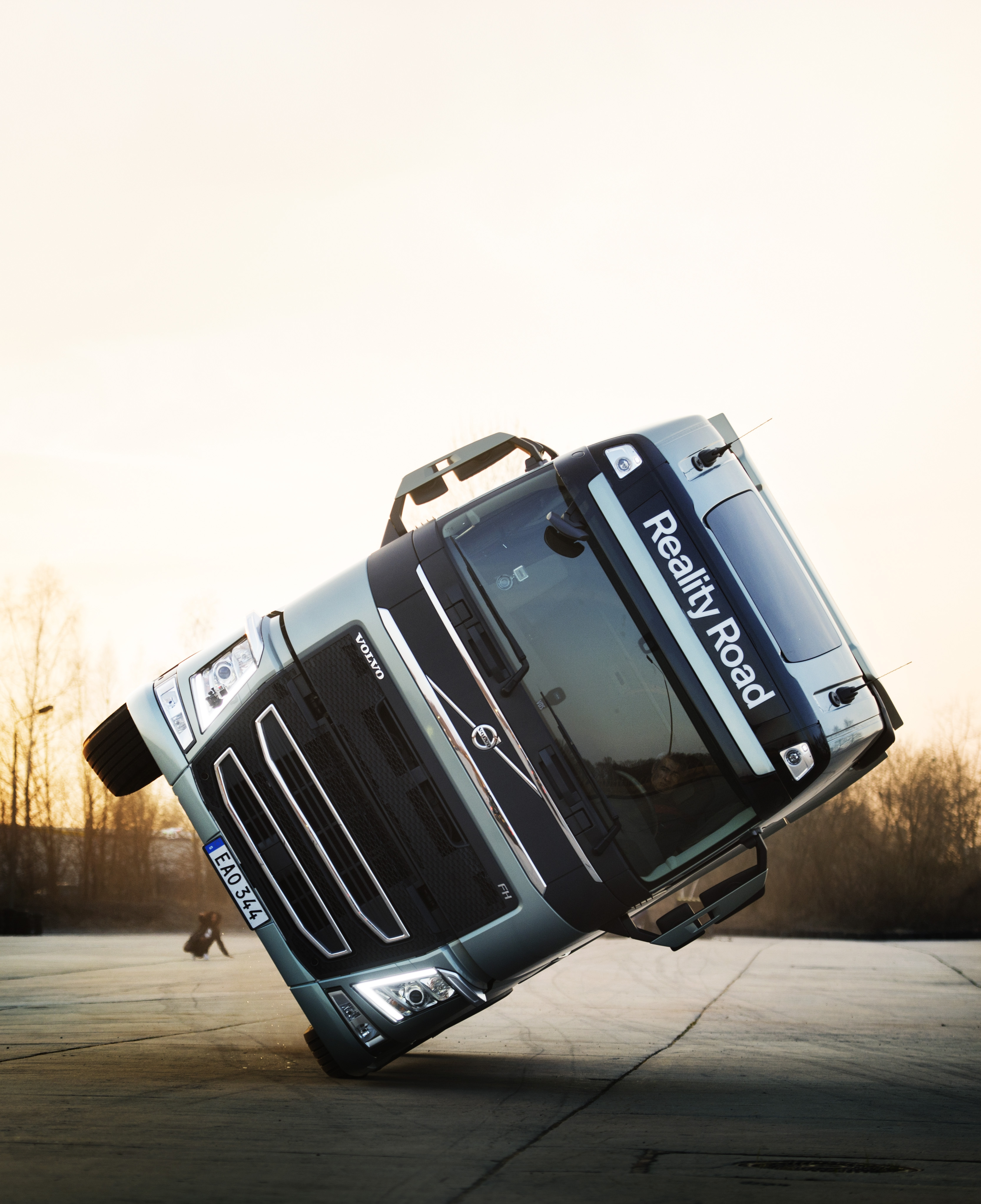 """How Volvo Drove an FH Truck on Two Wheels for Mapei's """"# Million Ways to Live"""" Music Video ..."""