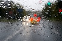 Rain repellent products can improve visibility during heavy rain