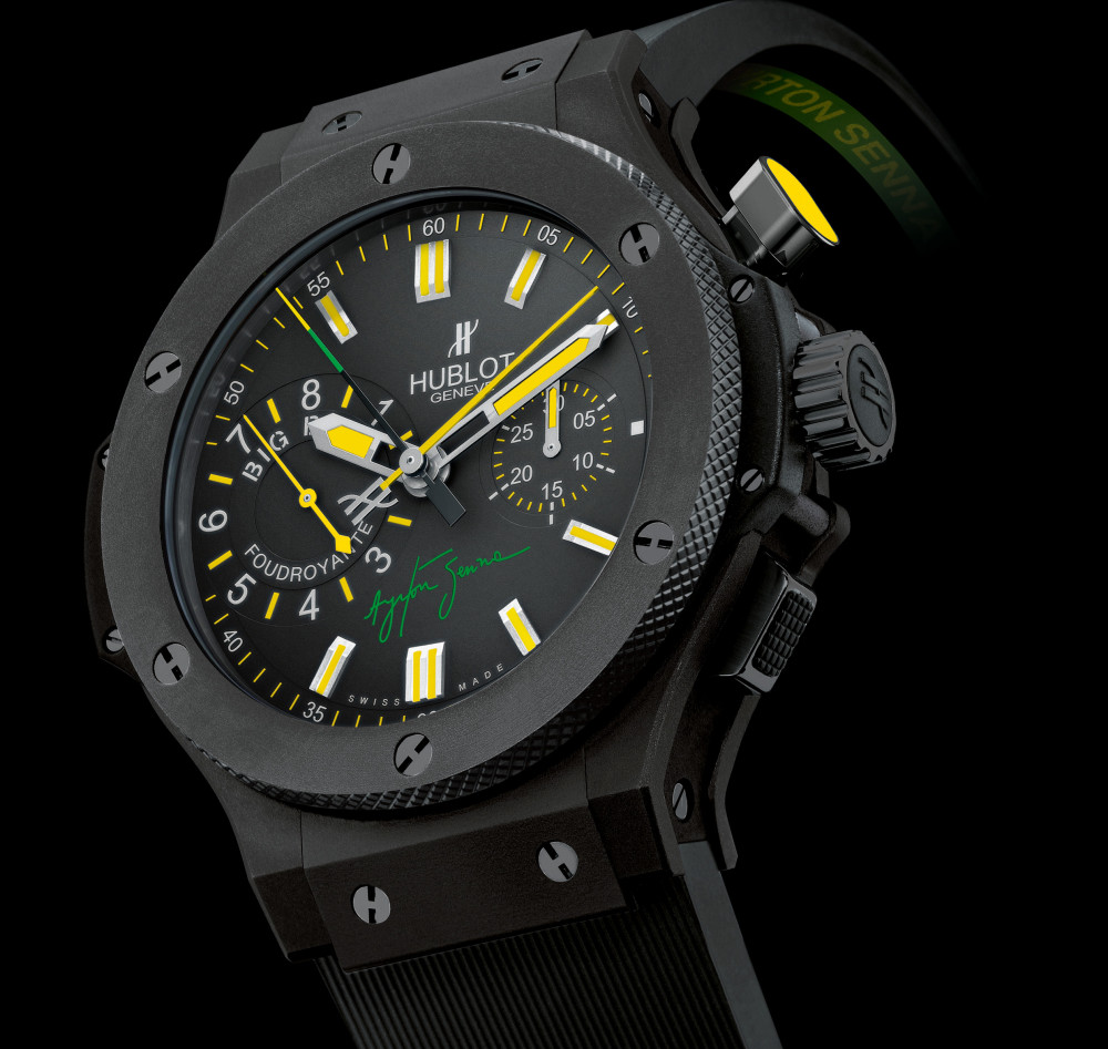 Hublot Launches Big Bang Senna Foudroyante Autoevolution