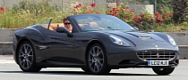 Hugh Grant Cruising in His Ferrari California