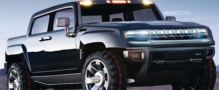 Hummer Electric Pickup Truck Rendered, Looks Spot On ...