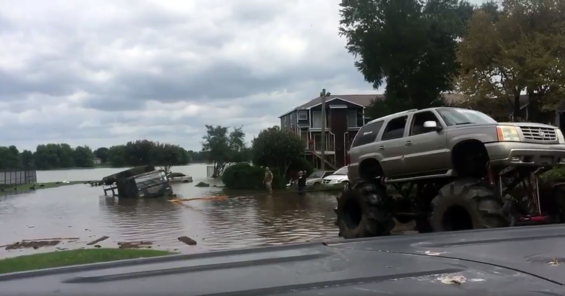 Monster truck fleet rescues victims of Hurricane Harvey