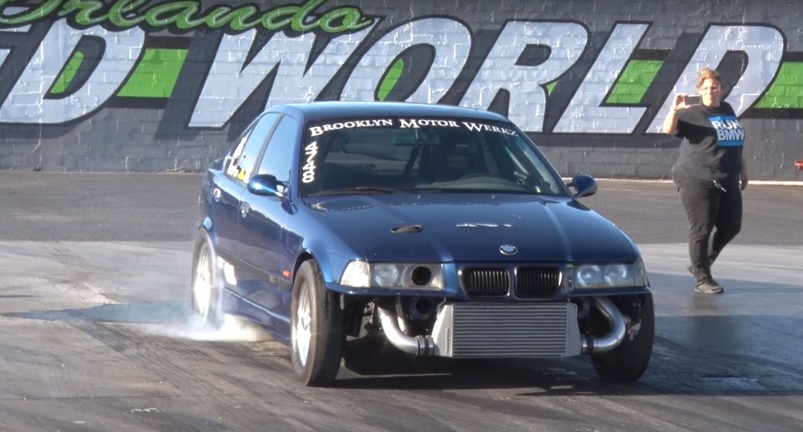 Husband and Wife BMW Drag Car Mixes E36 M3 Engine with Huge Turbo ...